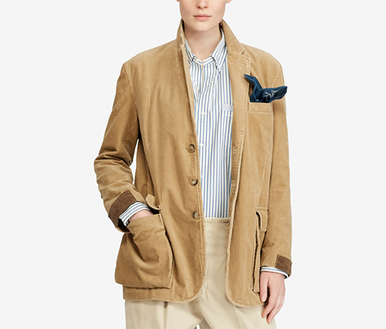 Ralph Lauren Women's Corduroy Blazer, Brown