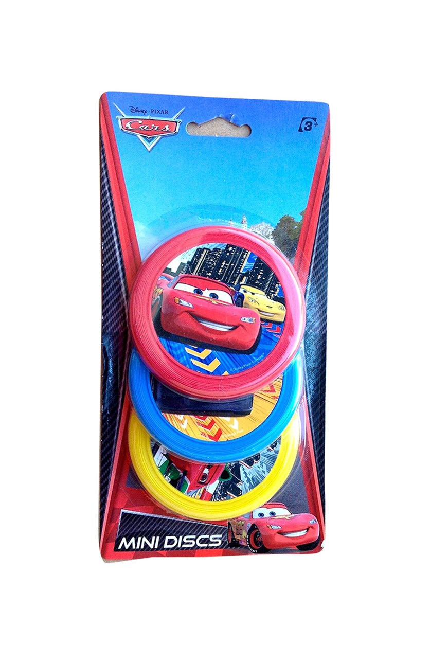 Pixar Cars Mini Disc, Red/Blue/Yellow