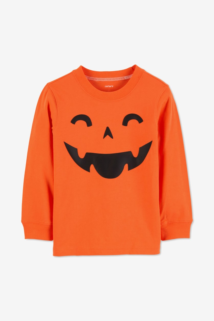 Carter's Boys Pumpkin Graphic Cotton Shirt, Orange
