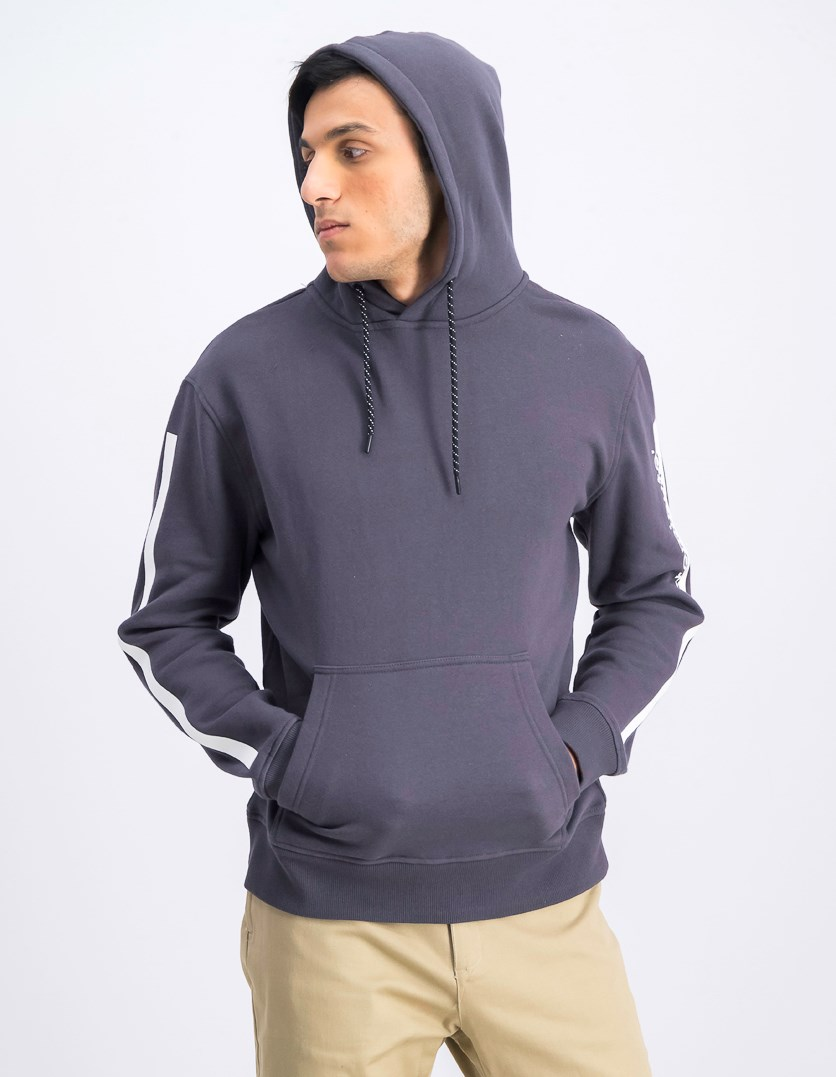 Men's Hodded Sweater, Charcoal