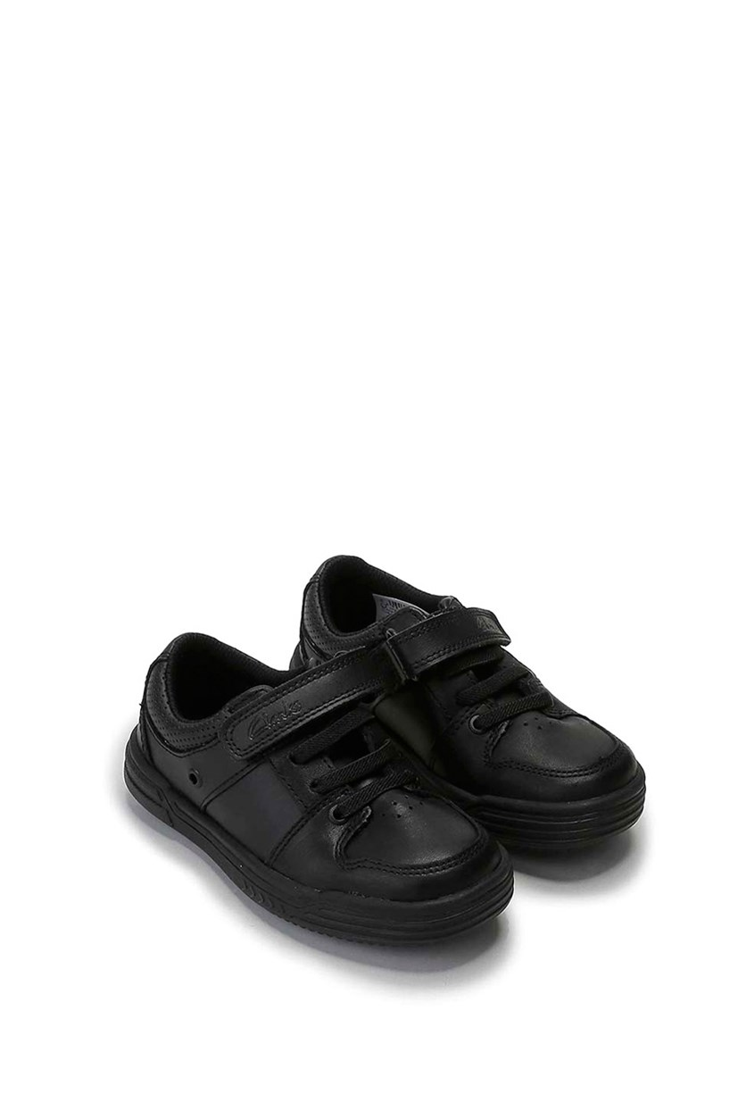 Toddlers Chad Slide Inf Shoes, Black Leather