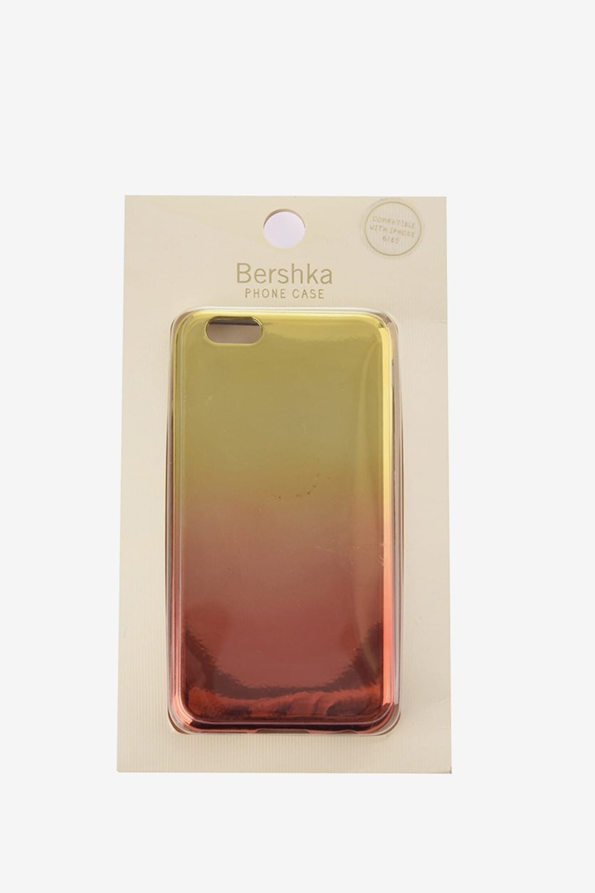 Ombre Metallic Phone Case, Gold/Red