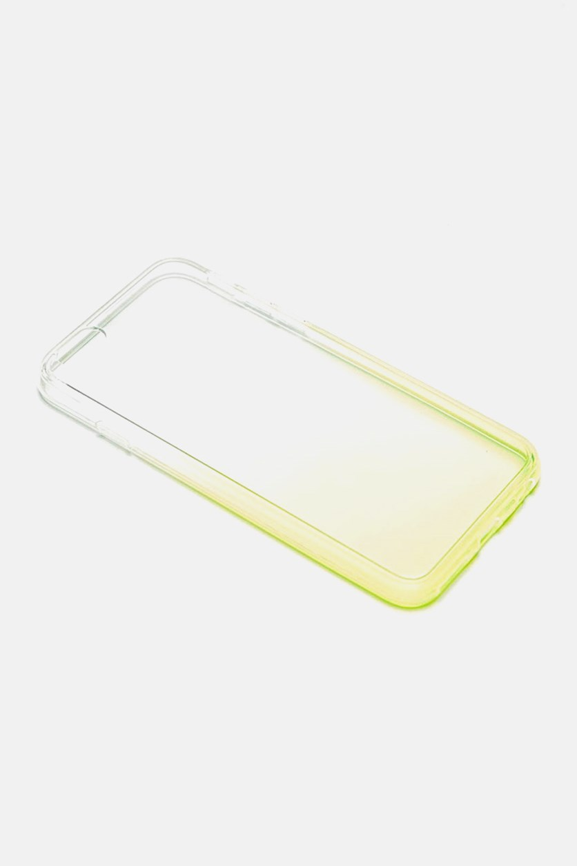 Ombre Phone Case, Transparent/Lime