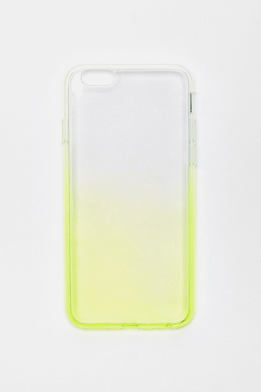 Ombre iPhone 6Plus Phone Case, Transparent/Lime