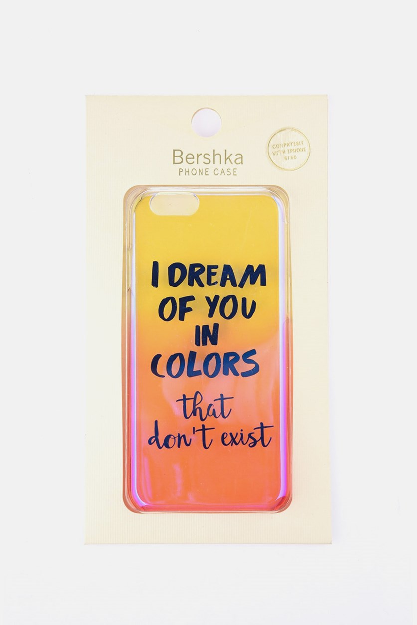 I Dream of You in Color Print iPhone 6/6S Case, Pink/Yellow Combo