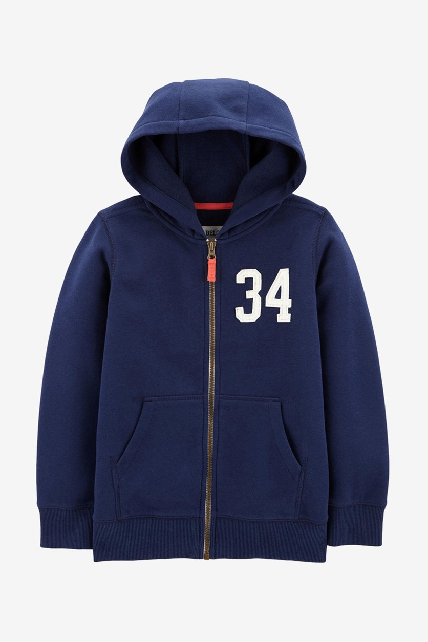 Boys Zip Hoodie Jacket, Navy Blue