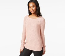 Maison Jules Cable-Knit Raglan Sweater, Fresco Pink