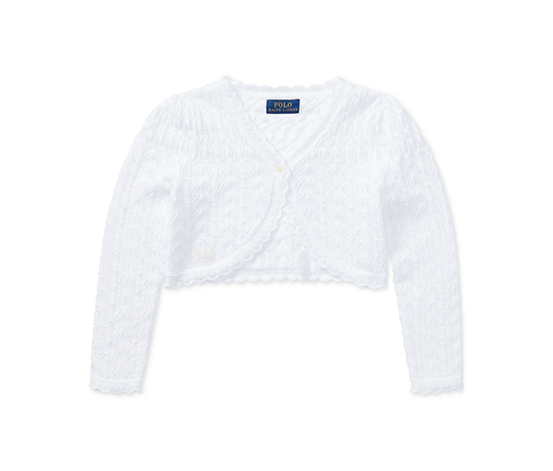 Polo Ralph Lauren Baby Girl's Cotton Cardigan, White