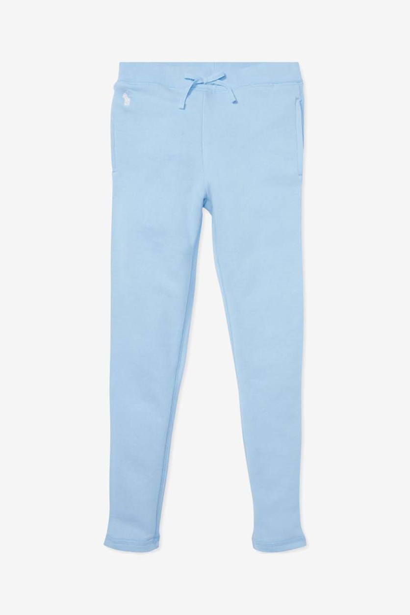 Toddler's Girls' French Terry Jogger Pants, Light Blue