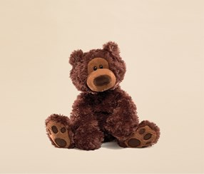Gund Philbin Teddy Bear, Dark Brown