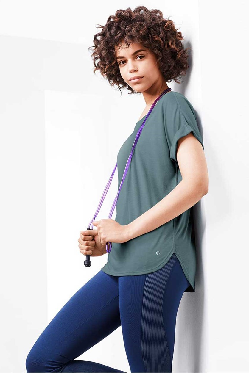 Women's Turn-up-Sleeve Sportshirt, Mint