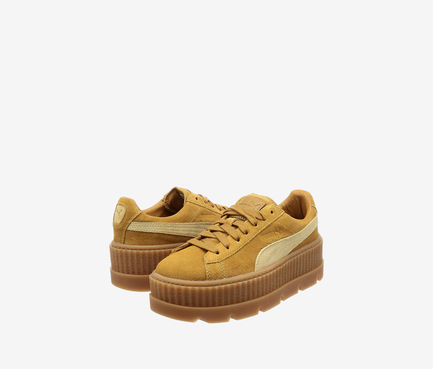 Puma Women's Cleated Creeper Suede, Golden Brown