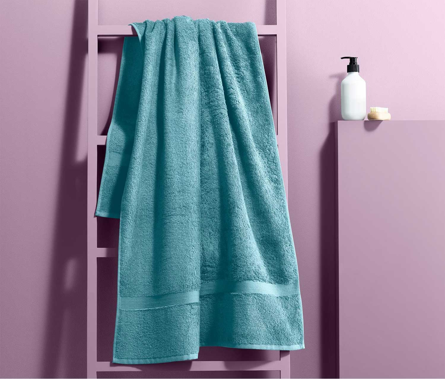 Bathtowel, Aqua Blue