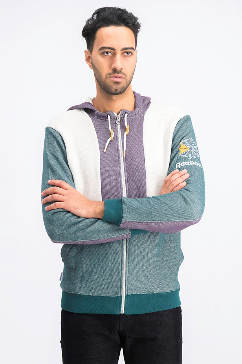 Men's F5 Full Zip Hoodie Sweater, Purple Combo