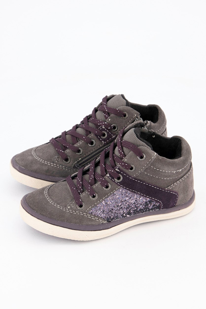 Toddler Girls Sneakers, Charcoal