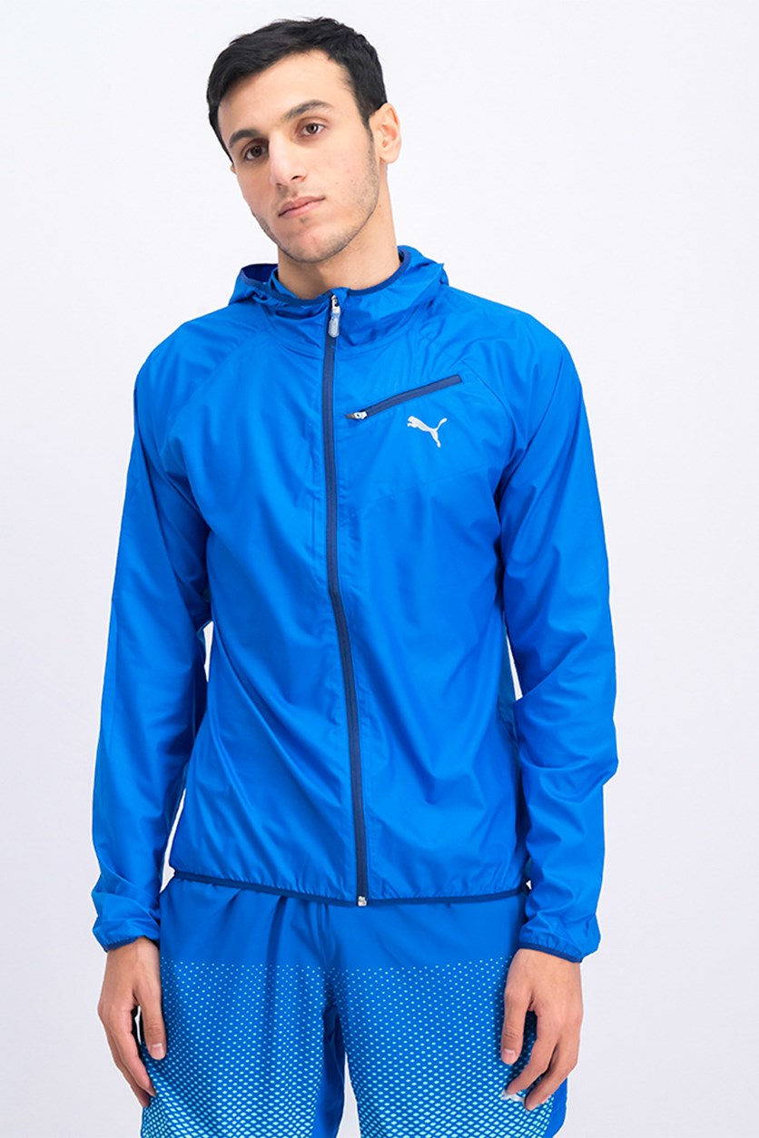Men's Core-Run Hooded Jacket, Lapis Blue