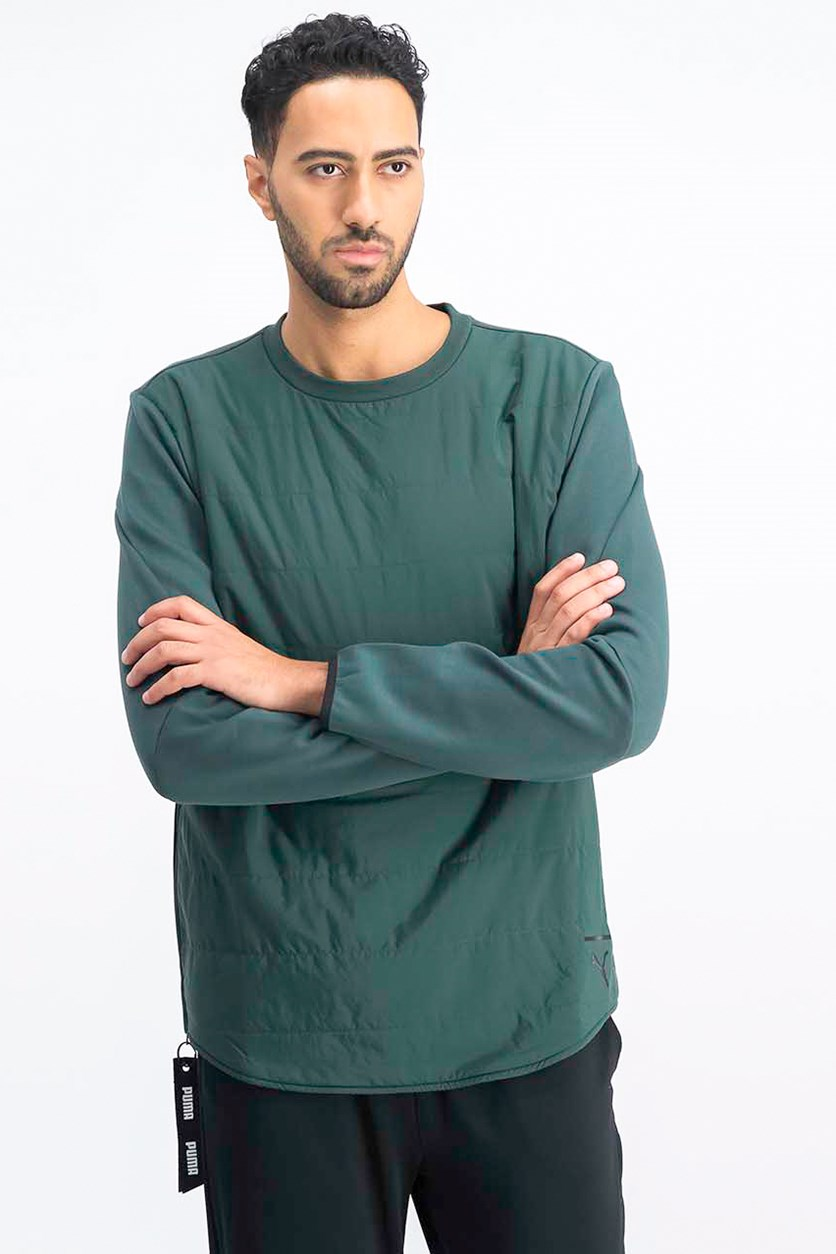 Men's New Evo Sport Winterized Crew Neck, Green Gabies
