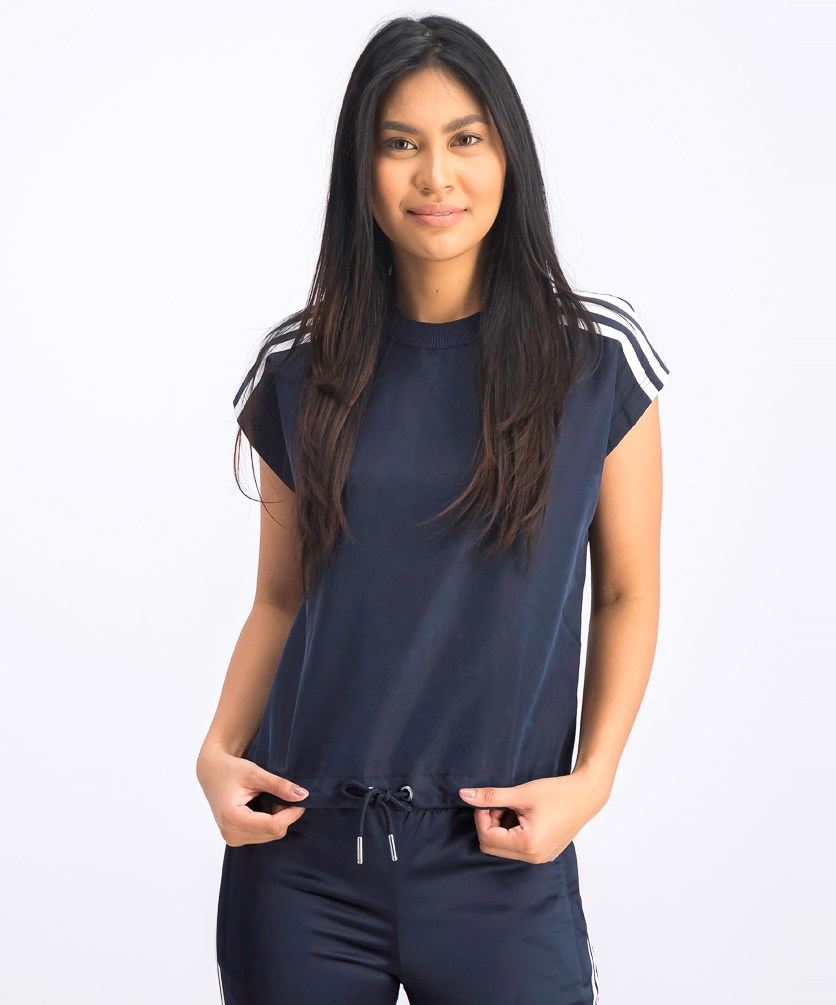 Women's 3 Stripe T-Shirt, Navy