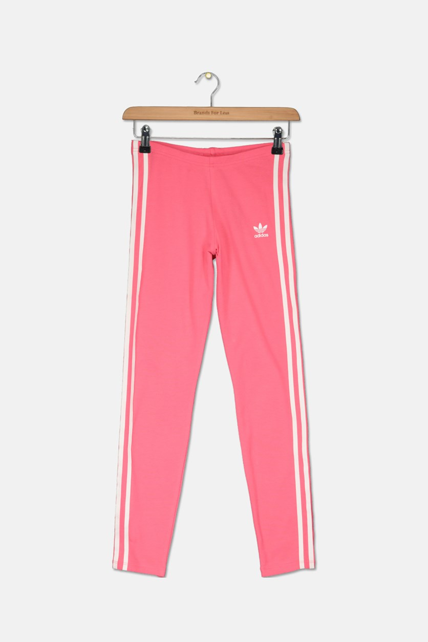 Girl's 3 Stripes Leggings, Pink