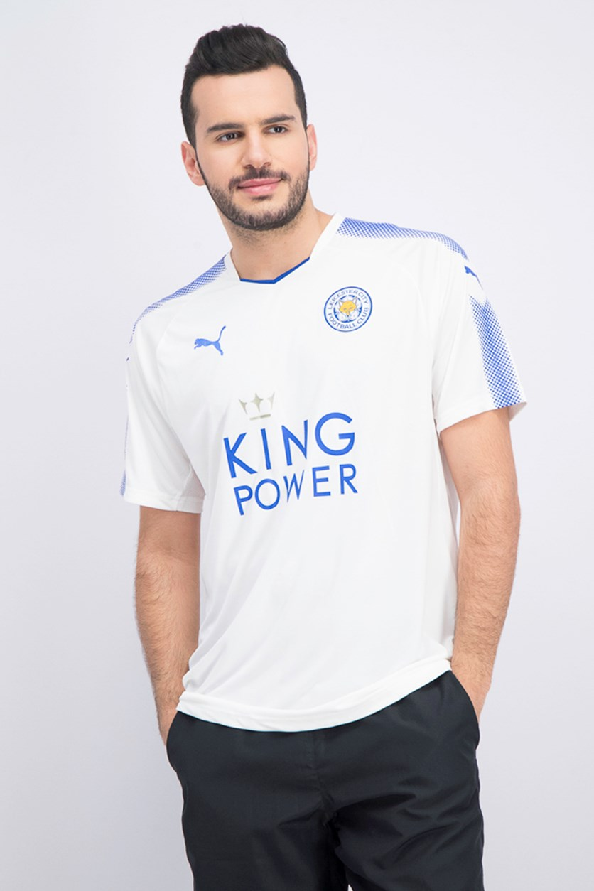 Men's Leicester City100 Graphic Shirt, White/Blue