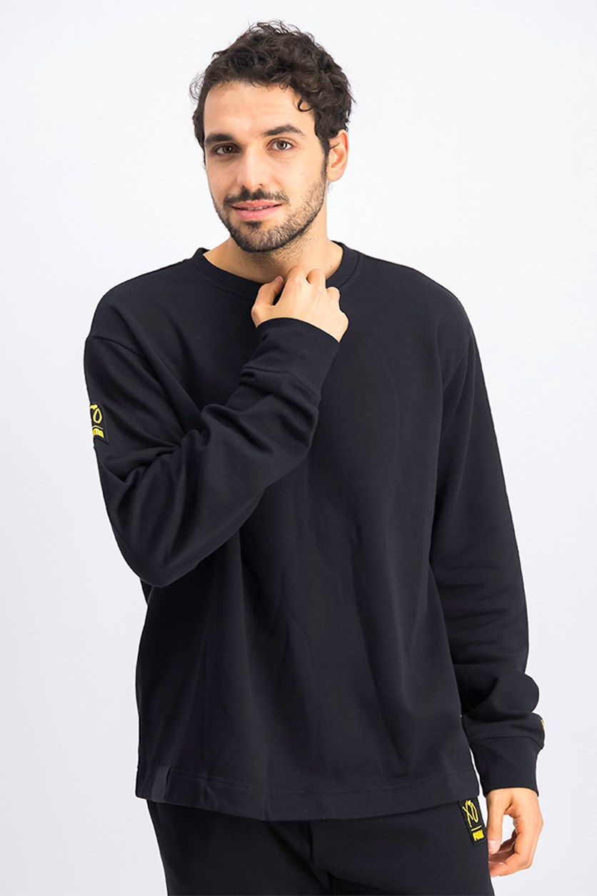 Men's X Xo Oversized Crew Neck Sweatshirt, Black