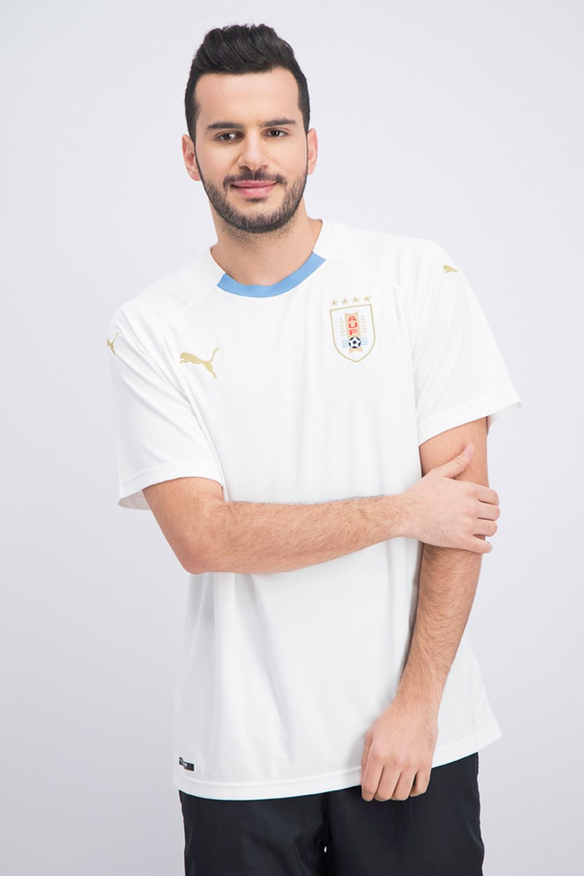Men's Uruguay Away Replica Shirt, White