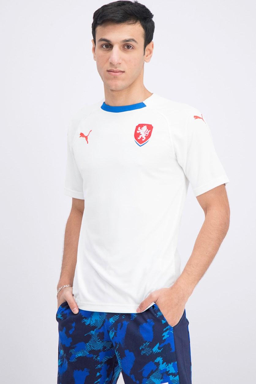 Men's Czech Republic Away Replica T-shirt, White