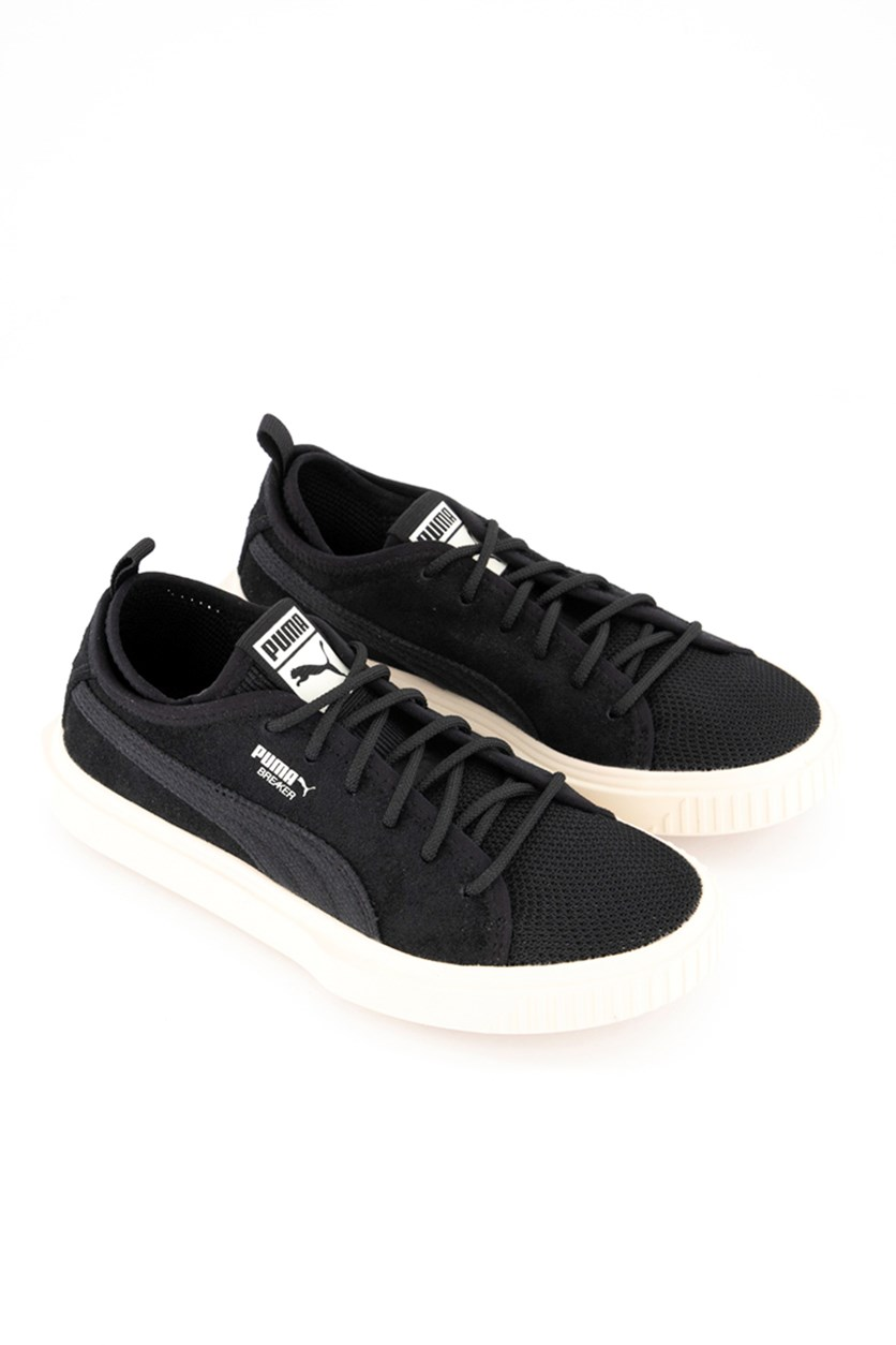 Boy's Breakers Mesh Shoes, Black/Whisper White