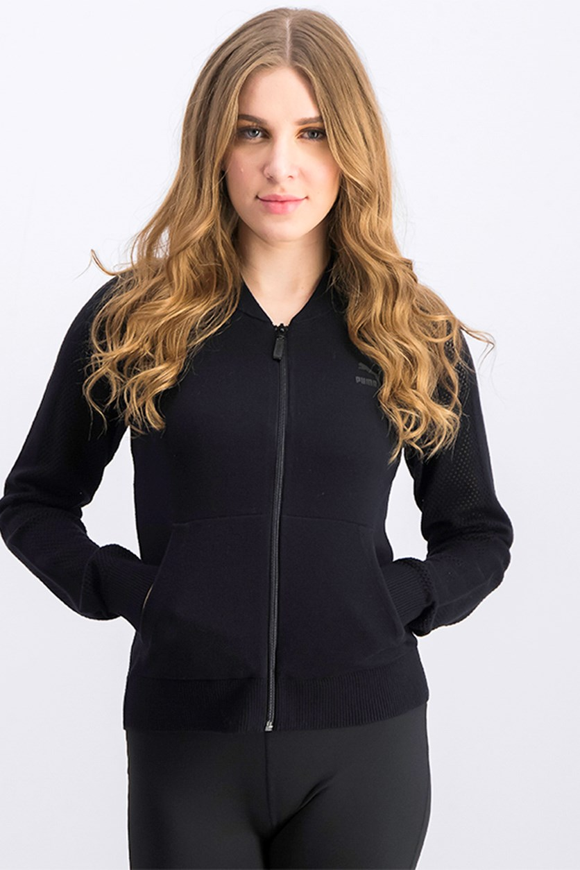 Women's Zip Up Jacket, Black
