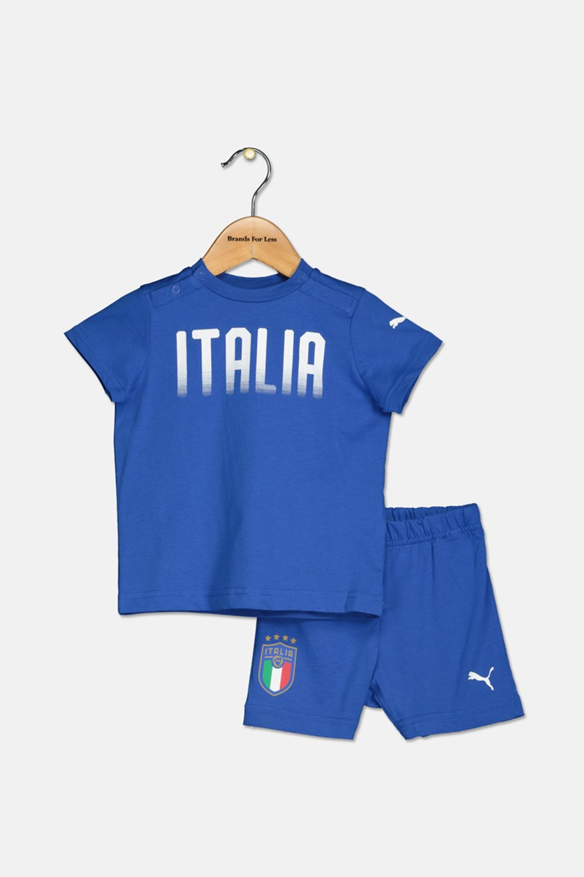 Little Boy's FIGC Italia Set, Team Power Blue