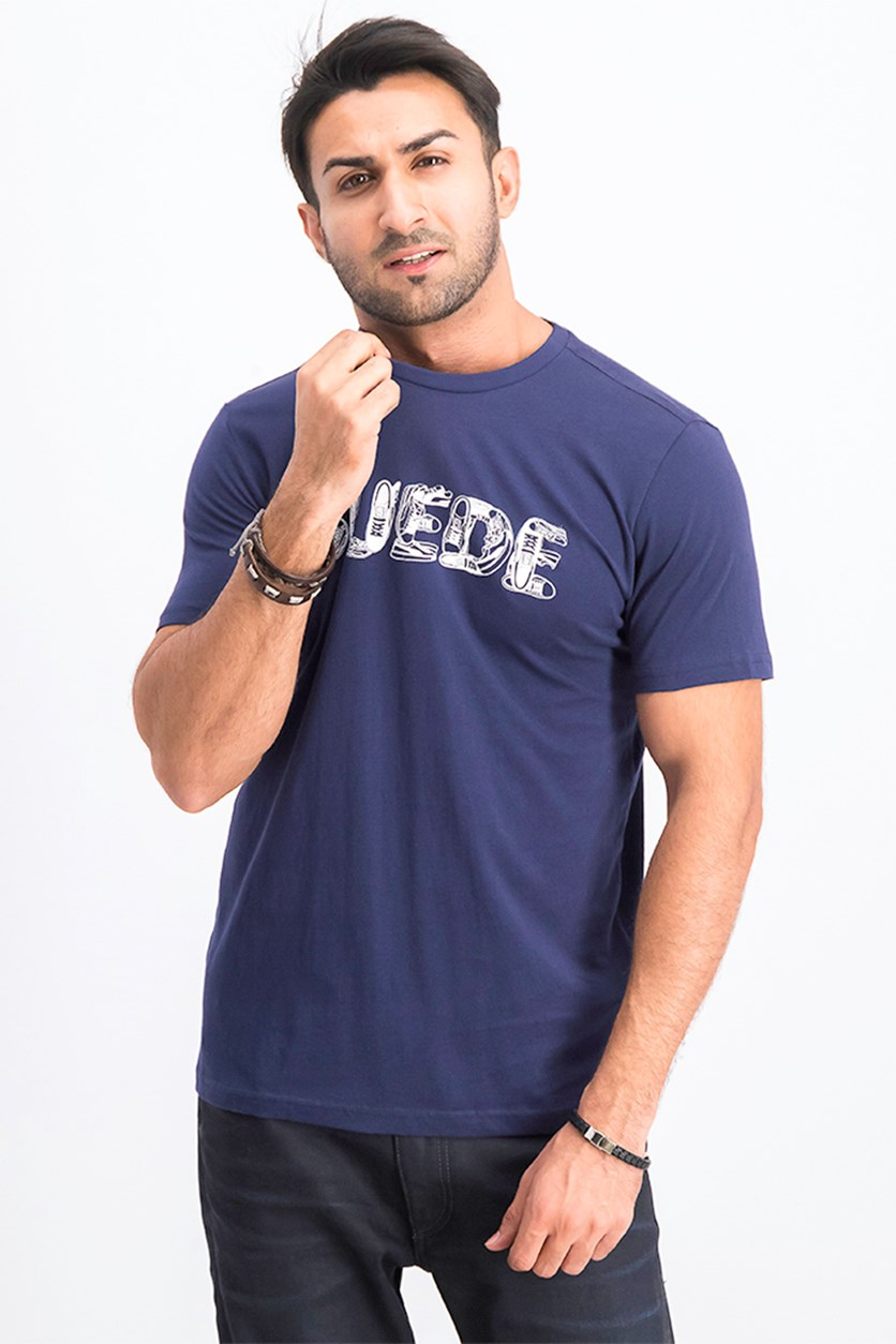 Men's Suede Celebration Tee, Peacoat