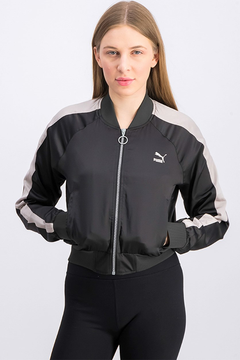 Women's En Pointe Satin T7 Jacket, Black