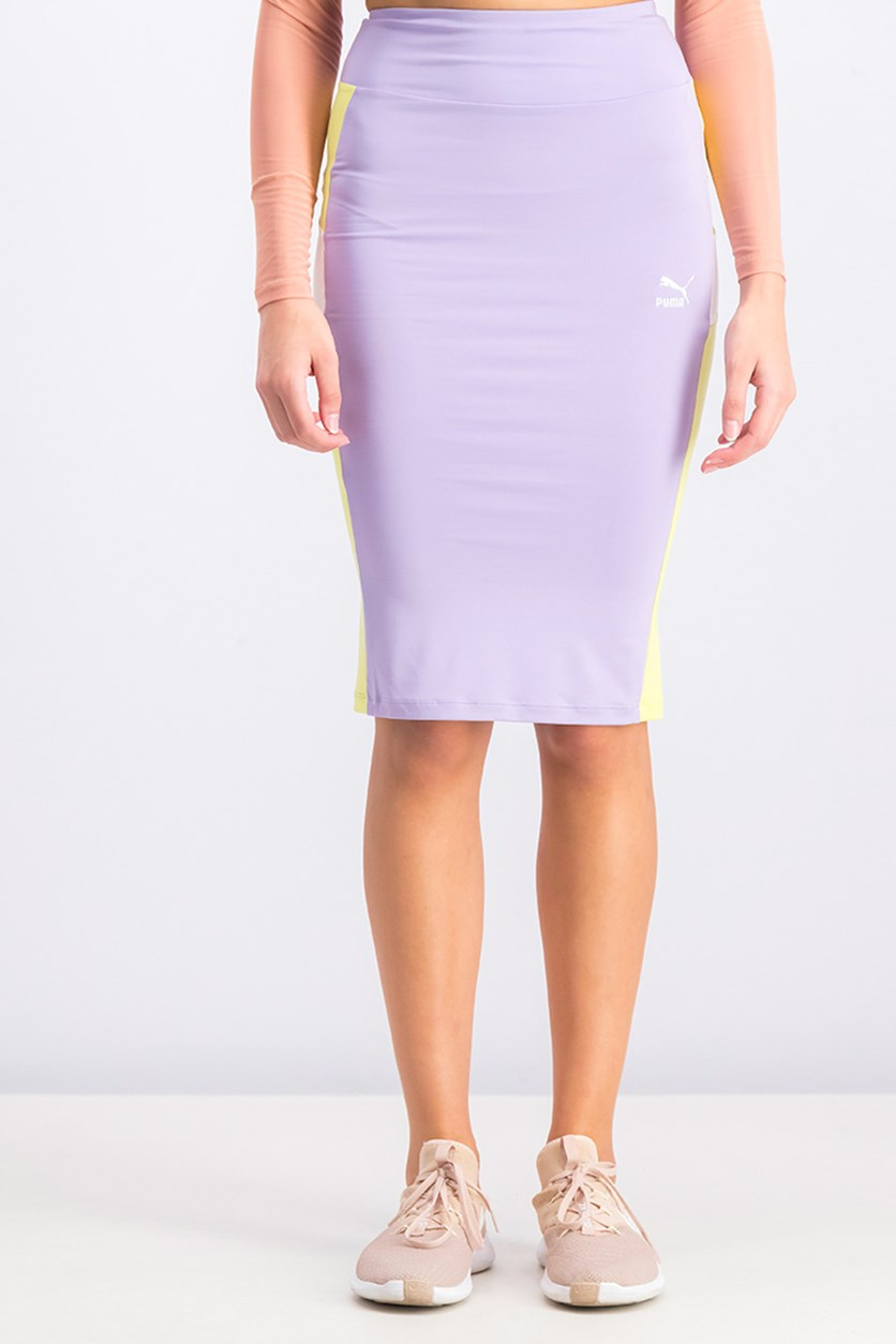 Women's Pencil Skirt, Purple Rose