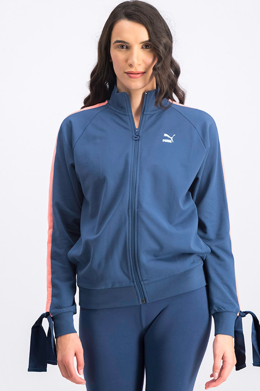 Women's Bow Track Jacket, Sargasso Sea