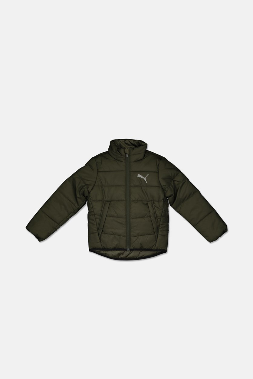 Boy's Ess Padded Jacket, Forest Night
