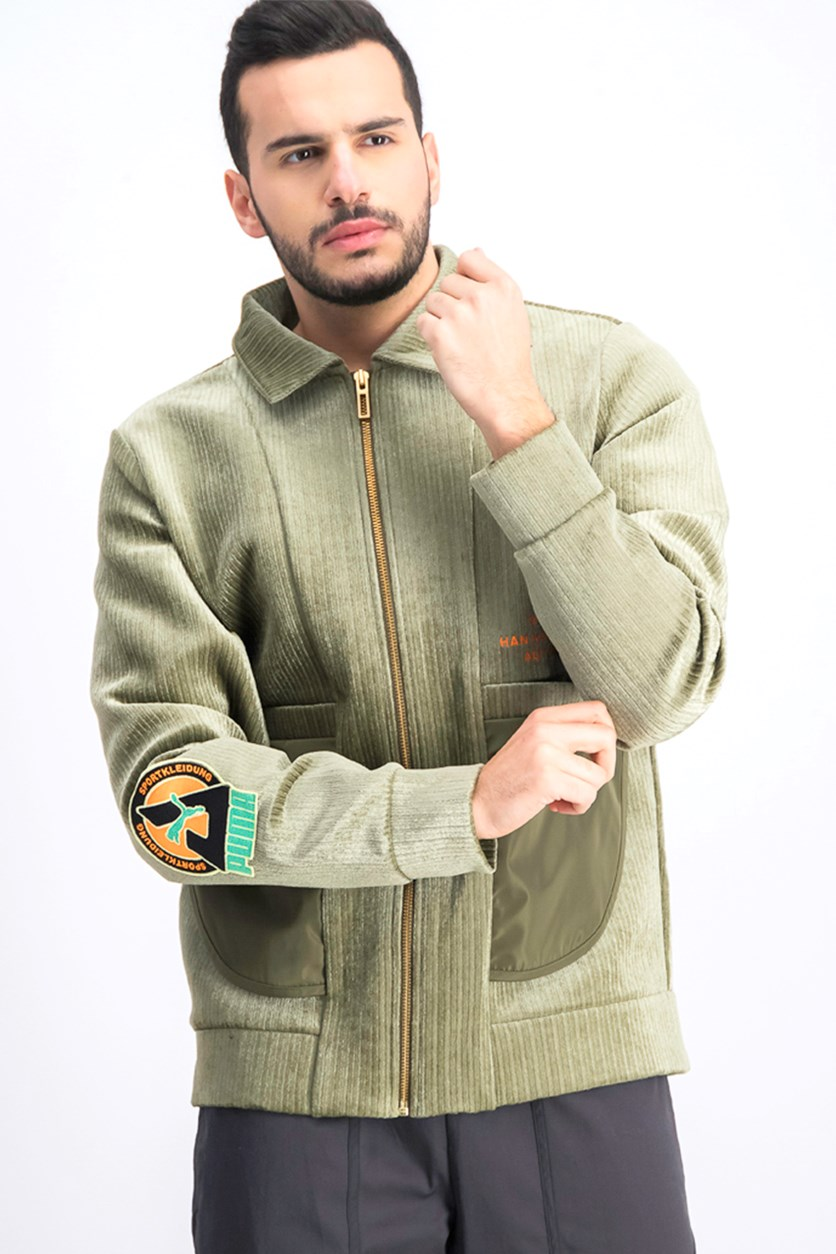 Men's Han Bomber Jacket, Olive Night