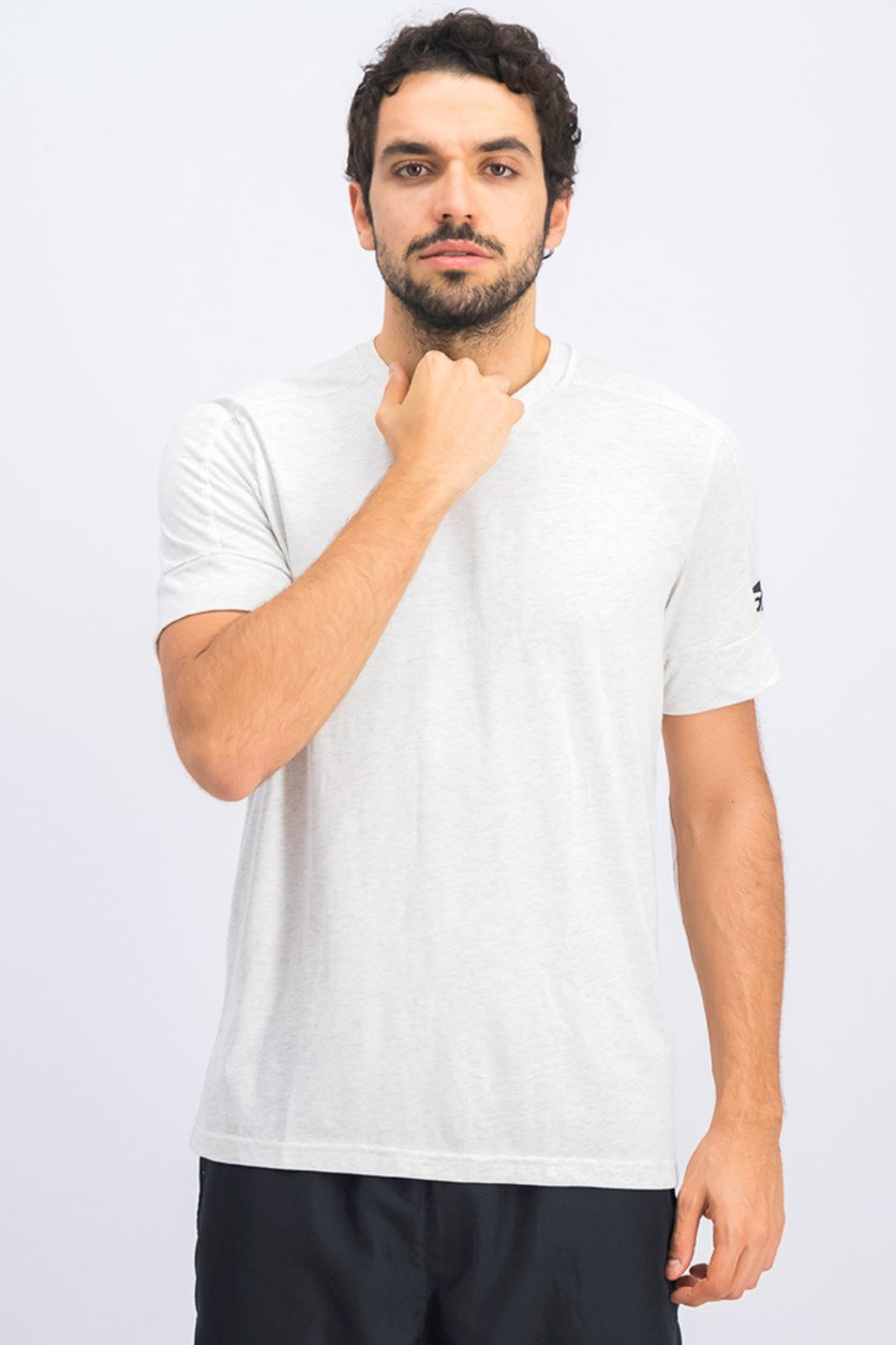 Men's ID Stadium Tee, Heather White Cream