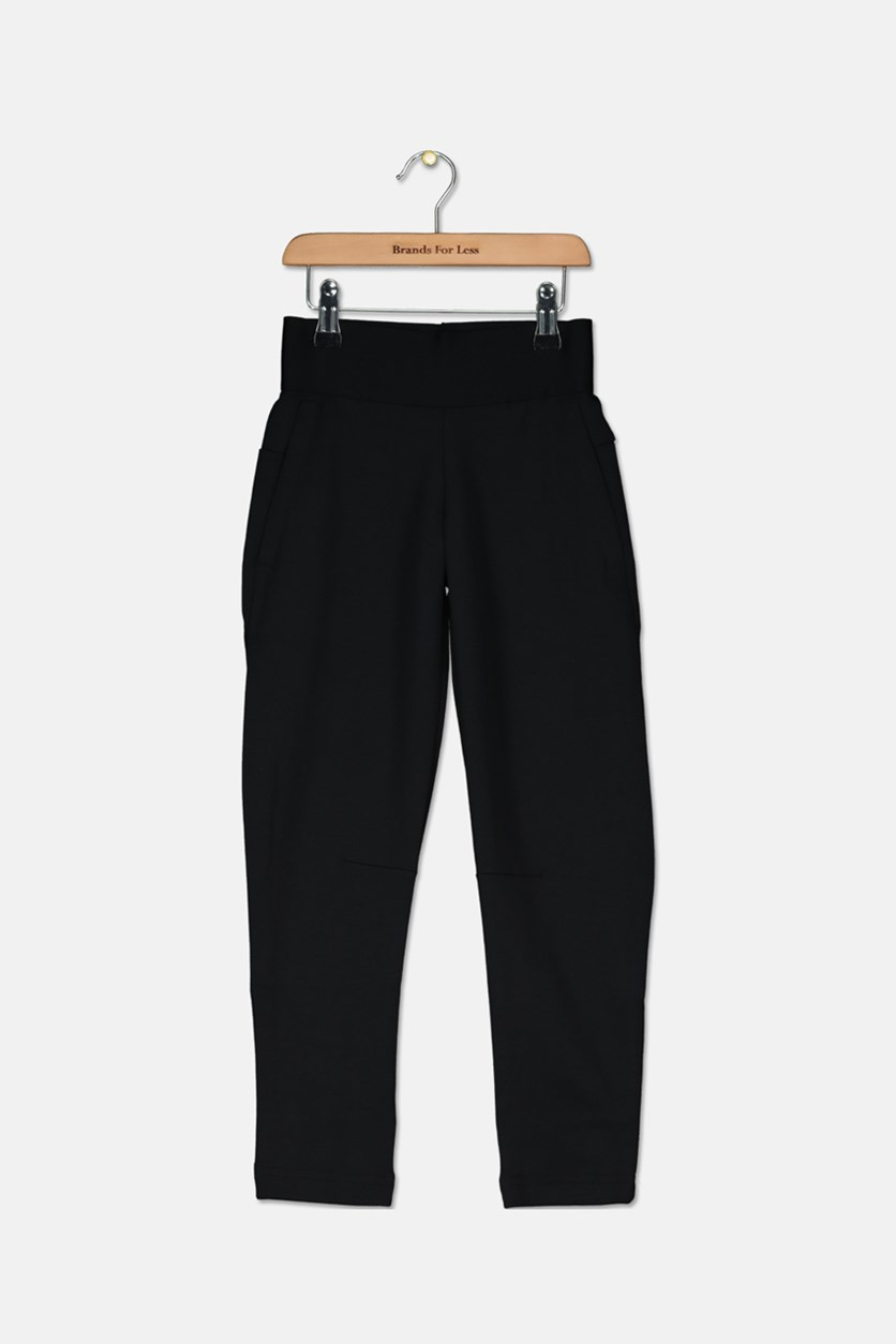 Kids Girls Pull On Pants, Black
