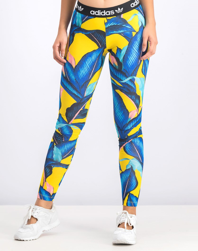 Women's Active Tight, Blue/Yellow