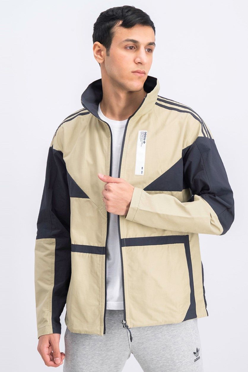 Men's NMD Track Jacket, Beige/Black