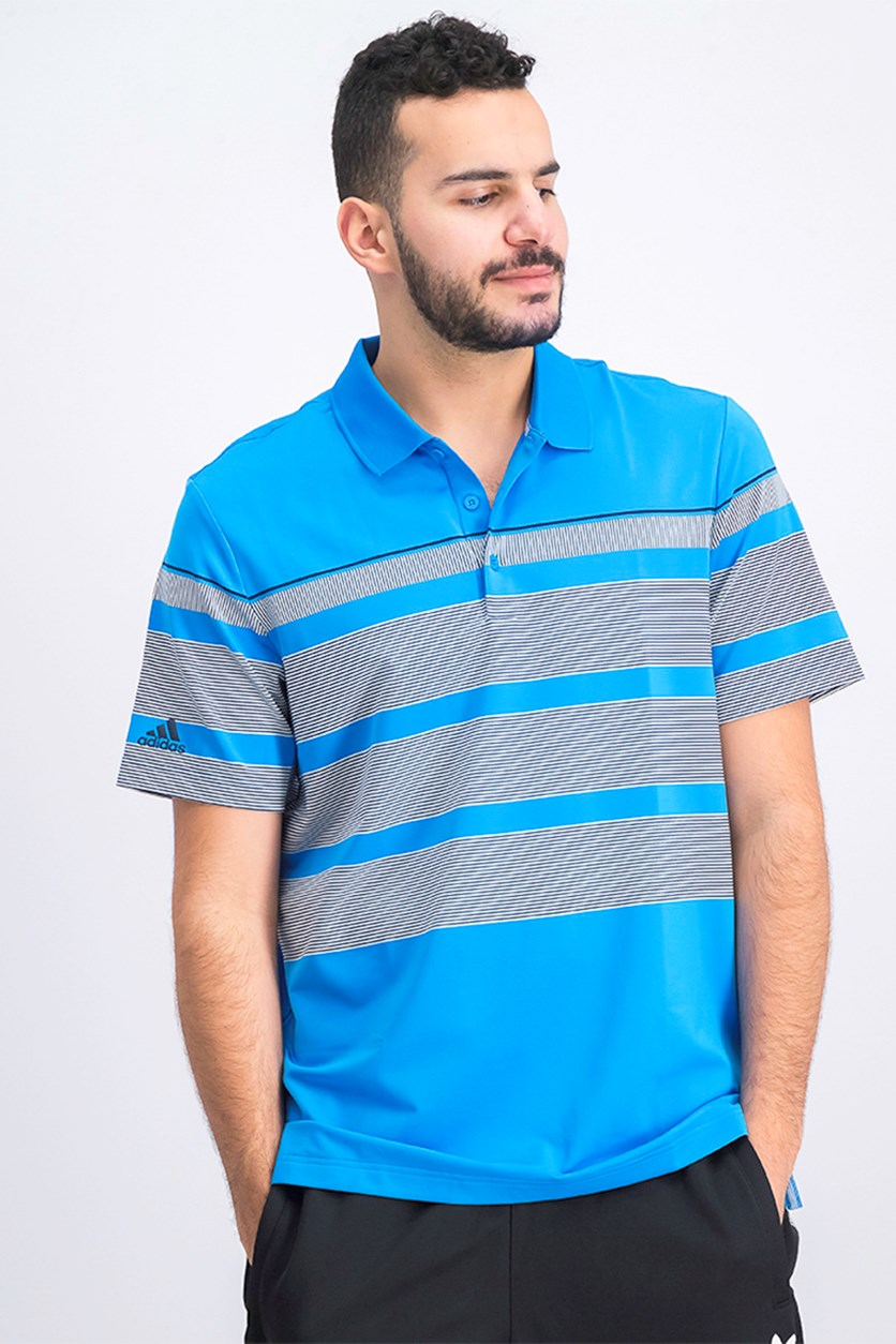 Men's Wraparound Polo Shirt, Blue