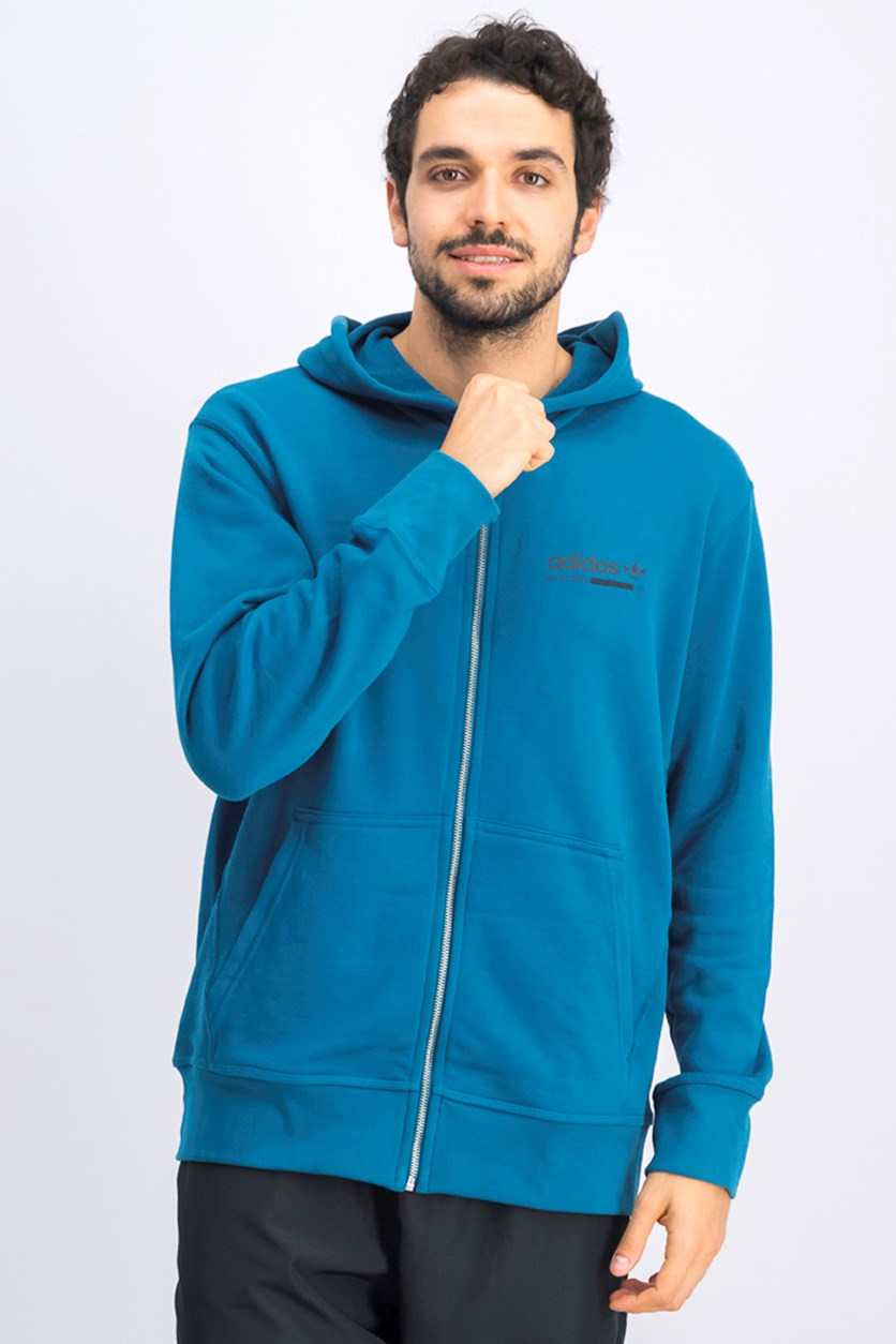 Men's Tracking Hoodie Jacket, Blue Sea