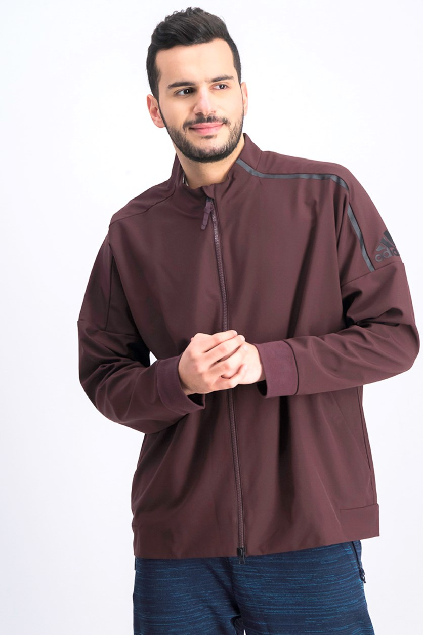 Men's ZNE Track Jacket, Dark Mahogany