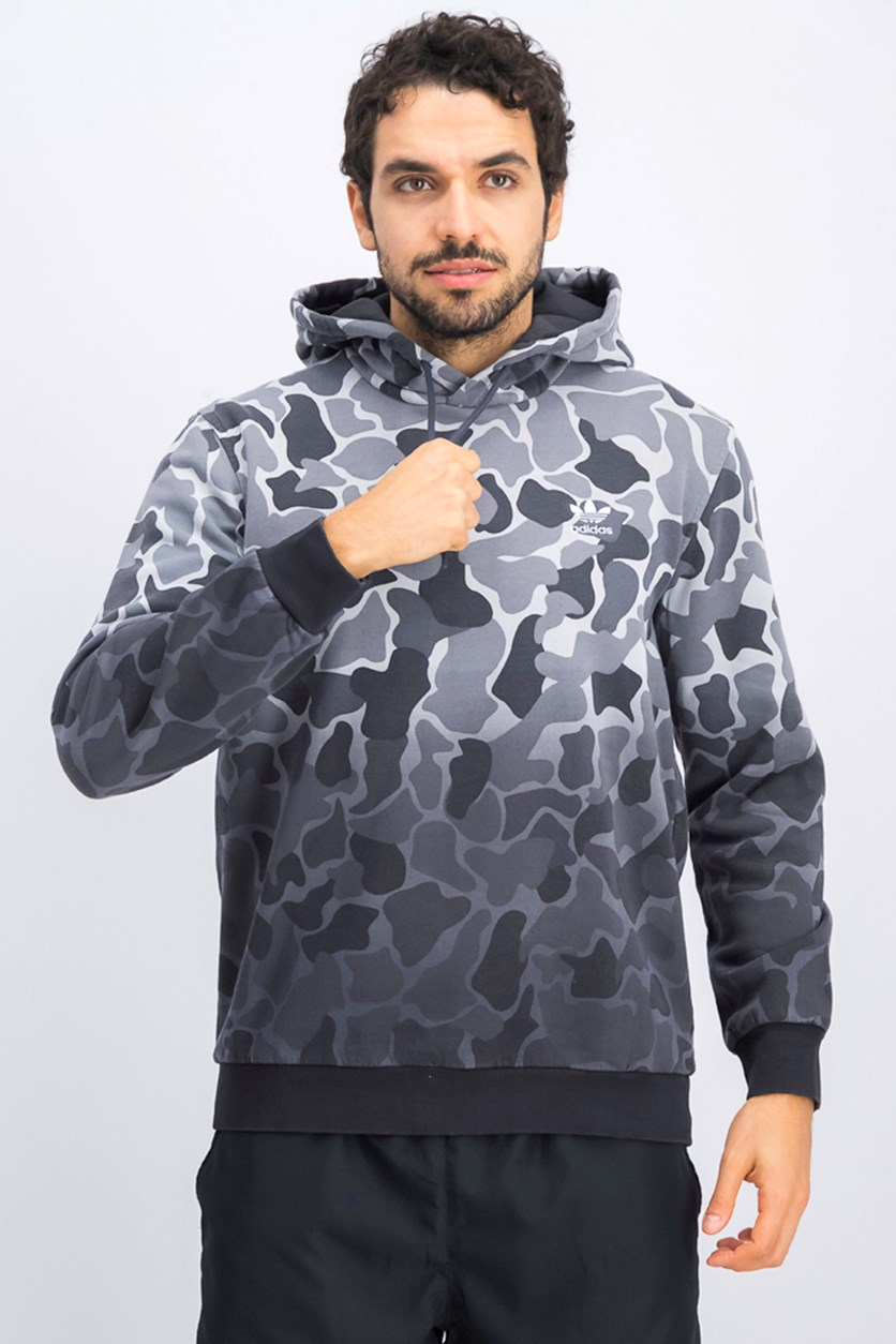 Men's Camo Hoodie, Black/Grey