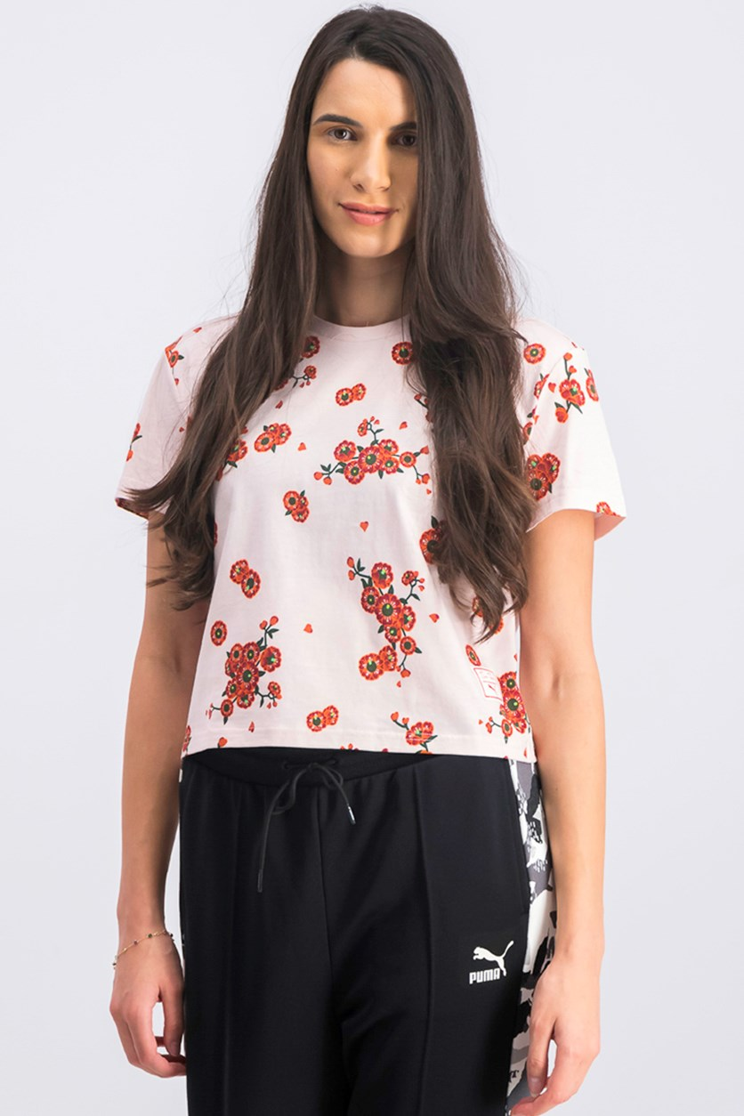 Women's Floral Top, Cherry Blossom