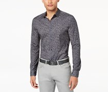 Calvin Klein Men's Abstract Printed Shirt, Grey