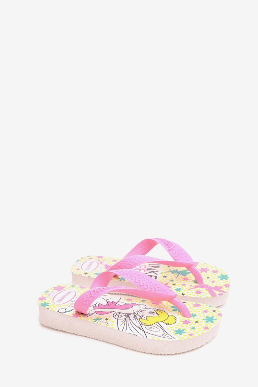 Toddler's D Sweet Slipper, White/Pink