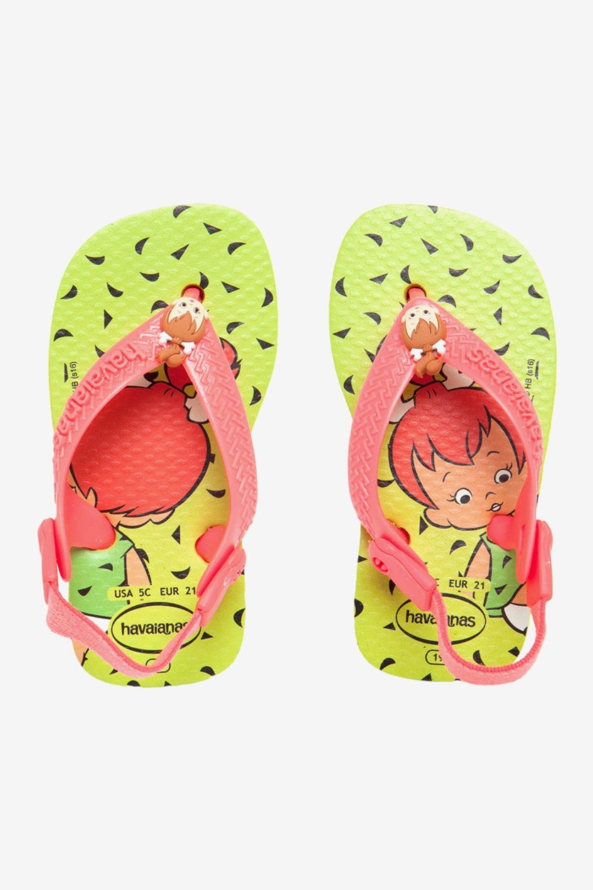 Toddler's Baby Flin Sandals, Lime Green