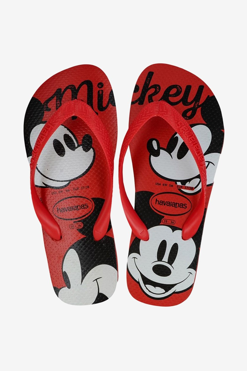 Unisex Kids Top Disney Flip Flops, Ruby Red