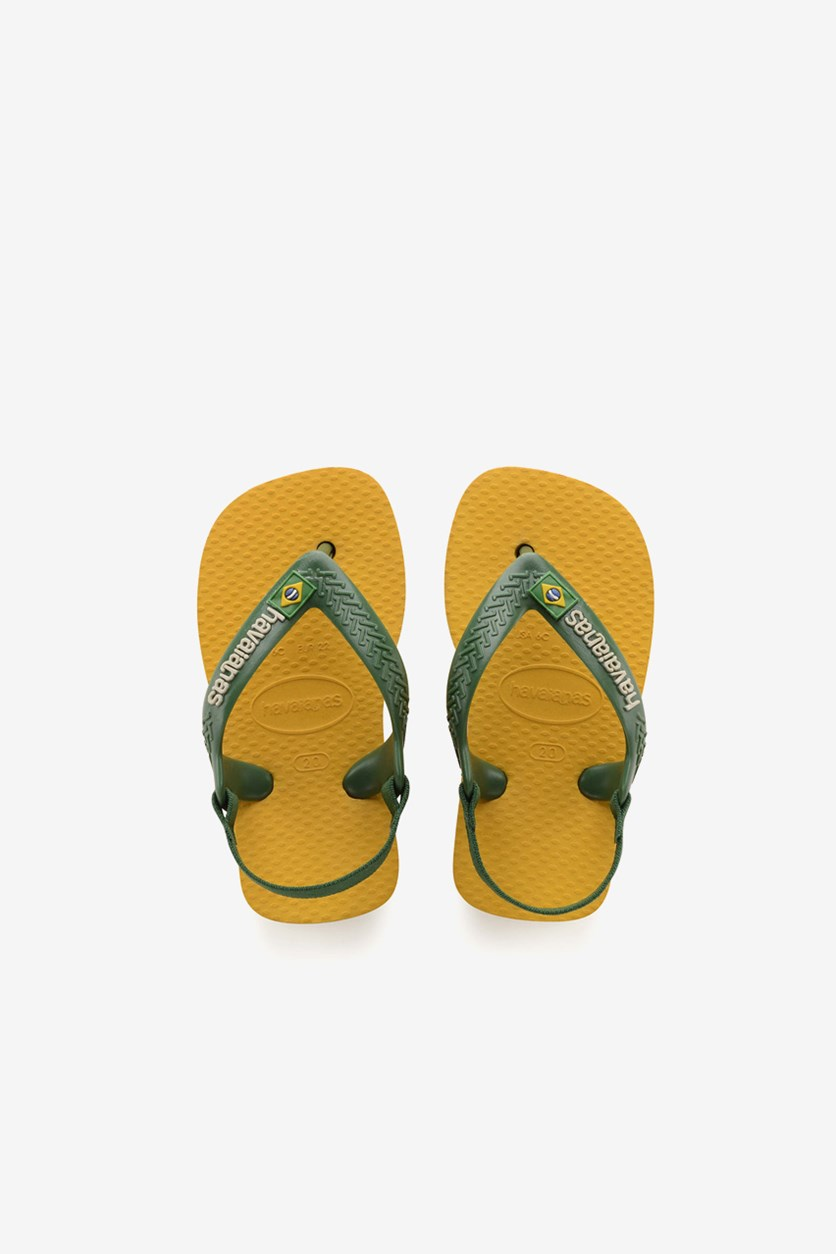 Baby Boy's Sling Slipper, Banana Yellow